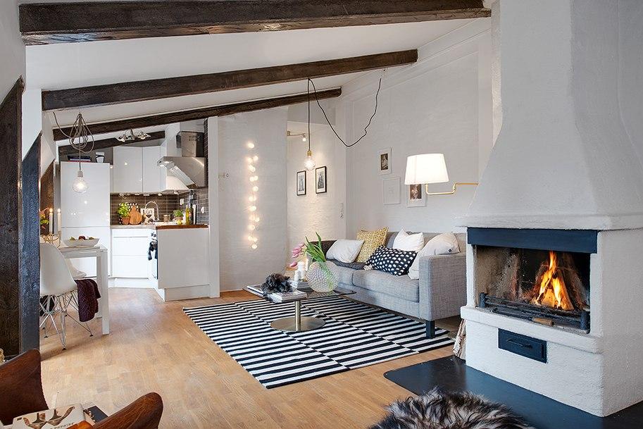 Дизайн квартиры 40 кв.м. на чердаке