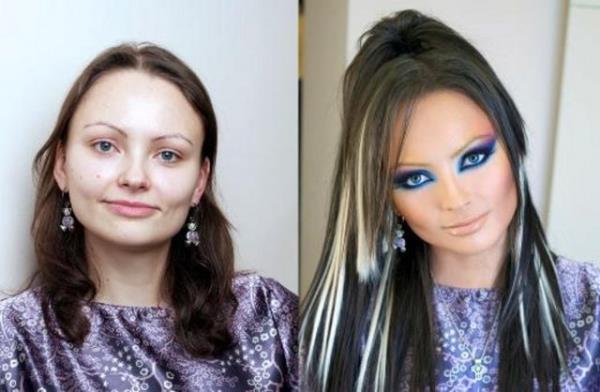 20 невероятных преображений с помощью макияжа. Фото до и после