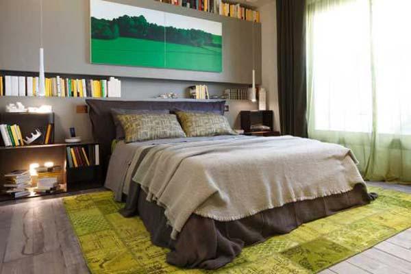 Интерьер современной спальни в экологическом стиле