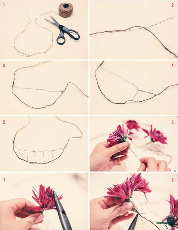Мастер-класс по изготовлению украшения на шею из цветов