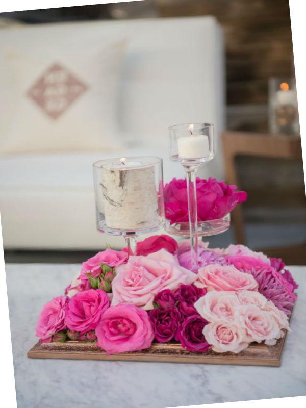 Декор с помощью цветочных композиций6
