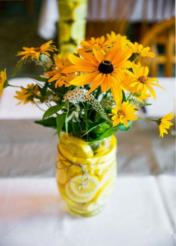 Декор с помощью цветочных композиций8