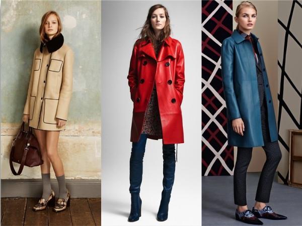 Модные женские кожаные пальто 2015-2016 (1)