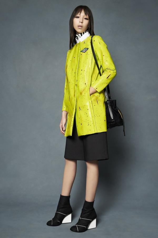 Модные женские кожаные пальто 2015-2016 (10)