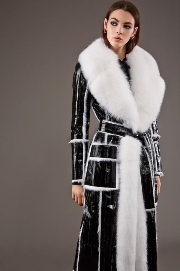 Модные женские кожаные пальто 2015-2016 (11)