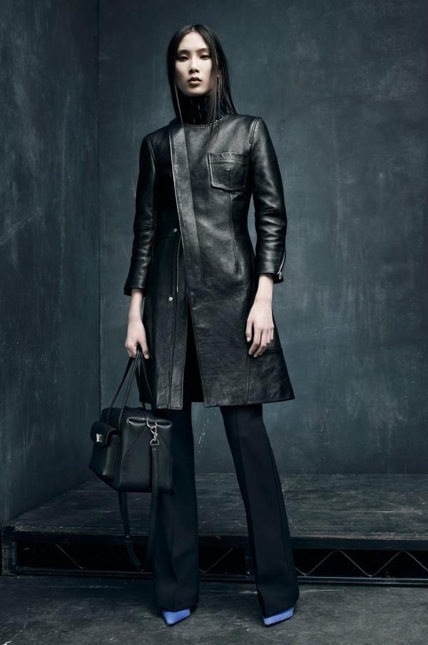 Модные женские кожаные пальто 2015-2016 (2)