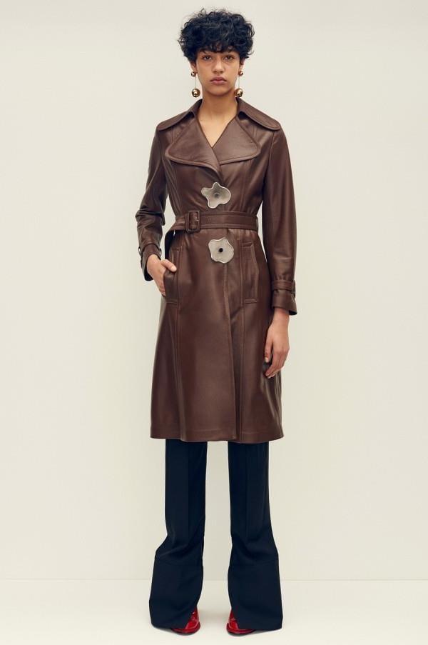 Модные женские кожаные пальто 2015-2016 (7)