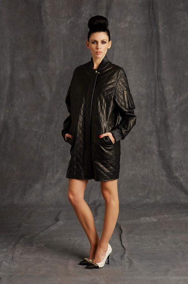Модные женские кожаные пальто 2015-2016 (8)