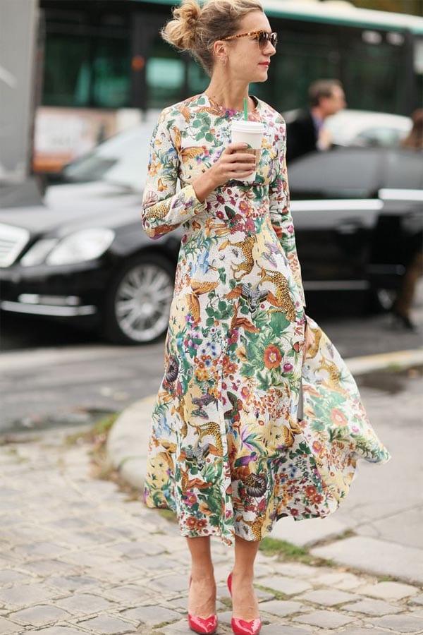 модные платья средней длины