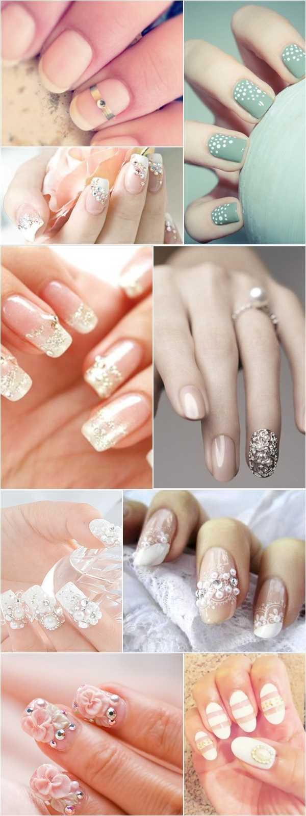 14227__600x8240_floral-wedding-nail-art3 Идеи свадебного маникюра в цветочной тематике